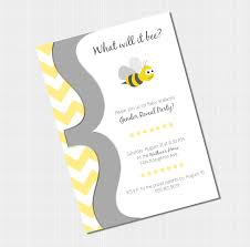 gender reveal invitation template striking bee themed gender reveal party invitations features party