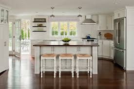 interior modern beach house kitchen design with dark brown
