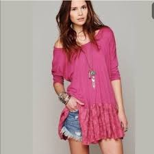 free people oversized fp beach shifty shift tunic dress from top