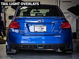 subaru red tail light blackout tinted overlay smoked red yellow 2015