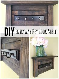 furniture diy entryway key hook shelf for your entryway shelf