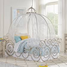 for kids or kids at heart this cinderella carriage bed looks