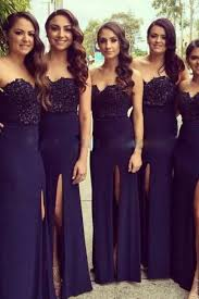bridesmaid gowns navy blue bridesmaid gowns on luulla
