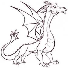 coloring pages fabulous dragon easy drawings 562 how to draw