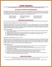 Sample Resume For Bookkeeper Accountant by Bookkeeping Resume Resume For Your Job Application