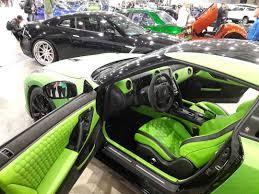 gtr nissan custom nissan gt r custom interior lime green and black hexagon stitch