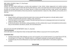 Student Assistant Job Description For Resume by Teacher Job Description Resume If You Are Seeking A Job As An Art