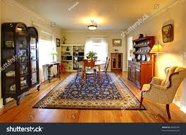 old country english charm living dining stock photo 96825709