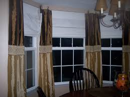 Window Treatments For Bay Windows In Dining Rooms Decorating Bay Window Curtain Rod With Decorative Cushions
