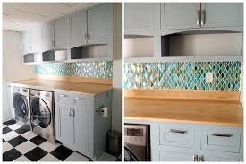 How Do You Install Glass Tile Backsplash by Operation Laundry Room The Backsplash Reality Daydream
