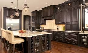 Restaining Kitchen Cabinets Darker Incridible Kitchen Trends Dark Cabinets 1672