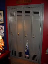 Boys Football Room Ideas Semi Gloss Paint Bi Fold Doors And - Kids room lockers