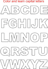 printable capital letters coloring pages free letter cursive