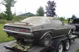 Dodge Challenger Old - 1970 dodge challenger 440 six pack rescued after decades of