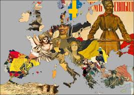 Europe Map During Ww1 by Map Of Europe During Ww1 W Respective Propaganda Posters Oc