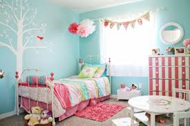 confortable blue and pink bedroom simple home decoration planner