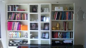 White Bookshelf With Glass Doors Billy Bookcase Glass Doors Gallery Doors Design Ideas