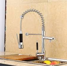 Kitchen Faucet Brass Modern Creative Spring Pull Out Sprayer Kitchen Sinks Faucet