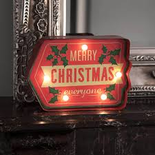 merry lighted sign lights card and decore