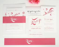 wedding invitation bundles pink wedding invitations with large names wedding invitations