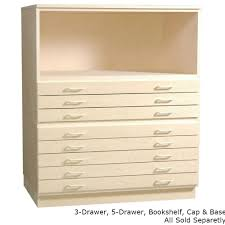 smi 5 drawer unfinished birch flat file for 18