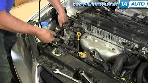 hyundai elantra power steering fluid how to install replace power steering belt 2001 06 hyundai elantra