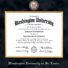 virginia tech diploma frame wustl diploma frame excelsior graduation gift