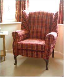 Plaid Chair And Ottoman by Wingback Chairs With Ottoman Design Ideas Arumbacorp Lighting