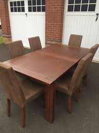 Dining Chairs Marks And Spencer Marks Spencer Sonoma Oak Dining Table 6 Chairs Timber
