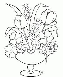 flower vase coloring page exprimartdesign com