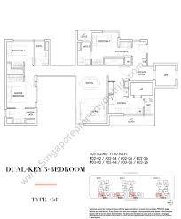high line floor plan 3 bedroom dual key u2013 new launch condo hotline