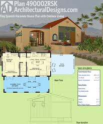 Spanish Homes Plans by Plan 490002rsk Tiny Spanish Hacienda House Plan With Outdoor