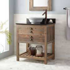 Reclaimed Wood Vanity Table Vessel Sink Vanities Signature Hardware