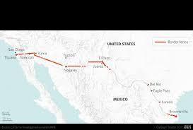 map usa mexico border the hurdles to building a border wall