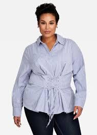 plus size tops shirts u0026 blouses size 12 32 ashley stewart