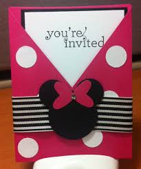 Minnie Mouse Invitation Card Jennifer U0027s Stamp Pad Minnie Mouse Invites