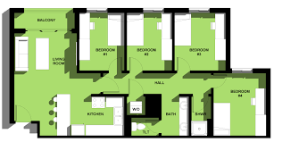 Mcg Floor Plan by Elm Hall Housing And Residence Life Unc Charlotte