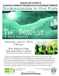 Park Flyers Backyard Flyers by Shakespeare In The Park Radnor Pa Official Website