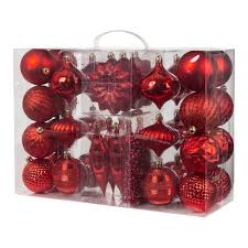 garland shatterproof ornament 38 set