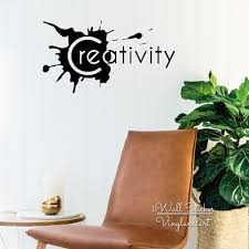 creativity quote wall sticker inspirational quote wall decal creativity quote wall sticker inspirational quote wall decal motivational wall quotes easy wall art cut vinyl stickers q131 in wall stickers from home