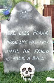 diy funny halloween tombstones