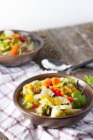 slow cooker vegetable soup jar of lemons
