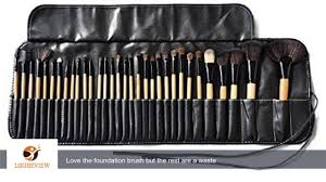 klaren professional 32 piece all natural real hair makeup brush