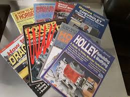collection of 7 used chevrolet v8 holley drag racing paperback