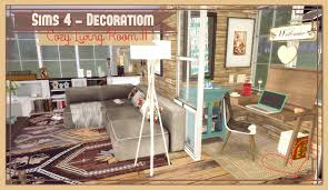 sims 4 cozy living room ii dinha sims 4 cozy living room ii