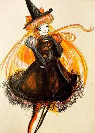 vintage witch illustration happy halloween sailor venus by moonlight seraph on deviantart