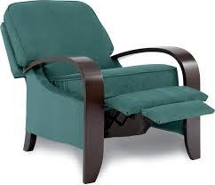 carlyle high leg recliner brown u0027s furniture showplace