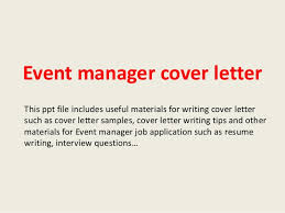 Event Manager Sample Resume by Conference Manager Cover Letter