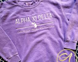 Comfort Color Sweatshirts Wholesale Custom Lettered Sweatshirts Greek Licensed By Lettersbyalex