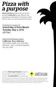 California Pizza Kitchen Rewards by Great Give Shop In Fundraiser At California Pizza Kitchen The